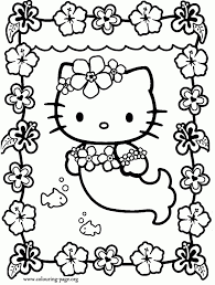 kitty mermaid coloring pages kitty mermaid coloring