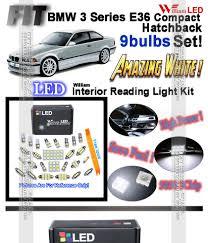 Led Reading Light Bulb by 9 Bulbs White Led Interior Light Kit For Bmw 3 Series E36 Compact