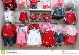 clothes shop babies clothes in shop stock photo image 2096590