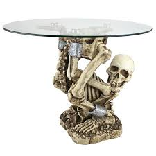 Images Of Halloween Skeletons by Amazon Com Design Toscano The Contortionist Skeleton Side Table