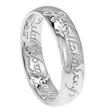 the one ring wedding band lord of the rings one ring silver engraved the lord of the rings
