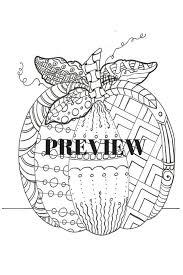 hand drawn printable coloring page zentangle pumpkin