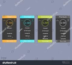 price plan design four banner tariffs price lists web stock vector 476077048
