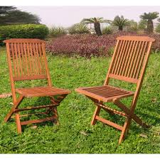 Patio Chair Set Of 2 by International Caravan Acacia Folding Wooden Patio Chair Set Of 2