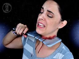 knife stuck special effect makeup tutorial for halloween silvia