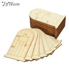 fashion 25pcs wooden door bauble wooden craft ornaments