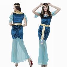 Egyptian Goddess Halloween Costumes Blue Egyptian Goddess Dress Arab Queen Dress Female