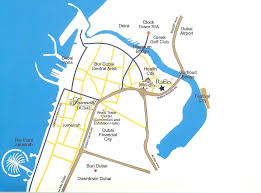 Dubai India Map by Uae Dubai Metro City Streets Hotels Airport Travel Map Info Where