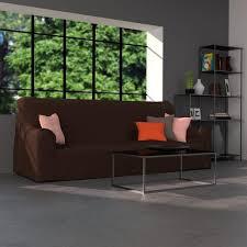 housse canapé en coton marron housse de canapé et de fauteuil la