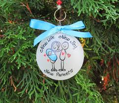 new parentsnew babyfamily christmas ornamenthand painted
