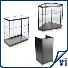 lockable glass display cabinet showcase free standing lockable glass display cabinets tower glass vitrine