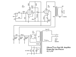 prowess amplifiers gibson schematics les paul jr