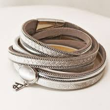 leather bracelet with buckle images Silver leather bracelet soona new york jpg