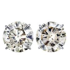 diamond stud earrings sale 20 carat total weight diamond stud earrings for sale at 1stdibs