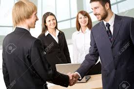 business greeting business greeting each other before meeting stock photo
