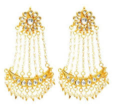 buy earrings online buy fashionography gold metal jhoomar dangle drop earring for