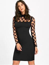 bodycon dresses cut out argyle sleeve bodycon dress black bodycon dresses m