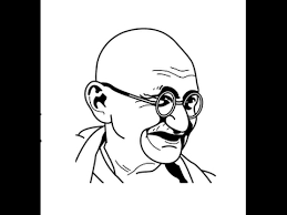how to draw mahatma gandhi face sketch step by step youtube