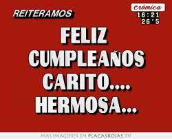 imagenes de feliz cumpleaños carito feliz cumpleaños carito hermosa placas rojas tv
