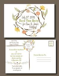 postcard save the date bohemian summer postcard save the date floral wreath white