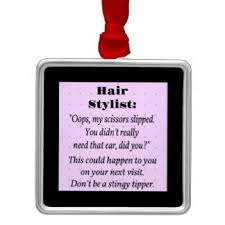 hair stylist ornaments keepsake ornaments zazzle