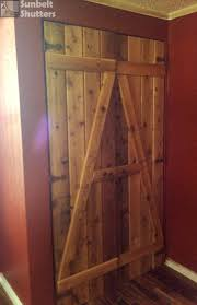 shutters are not limited to windows rough sawn cedar board and