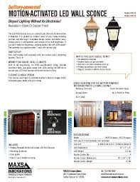 battery powered wall sconce wireless porch light