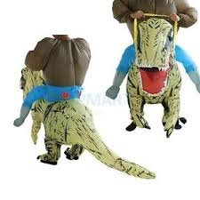 Rex Halloween Costumes Rex Inflatable Dinosaur Riding Blow Halloween Costume