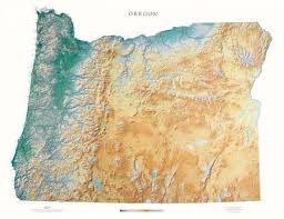 oregon elevation tints map beautiful artistic maps