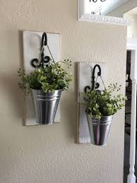 Flower Home Decor Galvanized Metal Decor Metal Wall Decor Sconce With Flowers