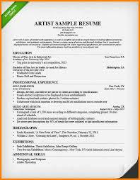 Art Resume Sample by 9 Artist U0027s Cv Template Cashier Resumes