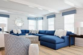 livingroom sectional blue sectional with white coffee table cottage living room