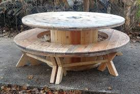 Cable Reel Chair Recycled Pallet Cable Reel Patio Furniture Pallet Ideas