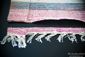 Make Rug From Carpet Diy Clutch Carpet Bag From A 2 Rug The Heathered Nest