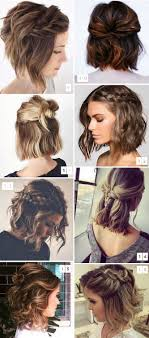 hairstyles that have long whisps in back and short in the front 16 penteados para cabelos curtos populares no pinterest hair