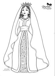 esther purim costume esther this page has great coloring pages for purim celebrate