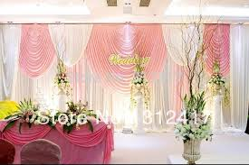 wedding backdrop reception aliexpress buy wholesale and retail pink and ivory backdrop