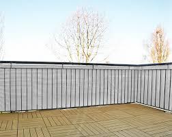 balkon abdeckung balkon sichtschutz lxb 500 x 75 cm in weiß sichtschutzmatten für