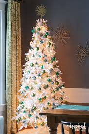 Decorated White Christmas Trees Images by Gold And Green Tree