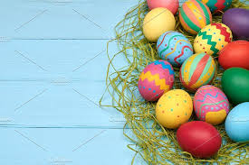 wooden easter eggs that open easter eggs painted colorful wood background