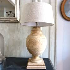 mango wood table lamp with round wooden ball libra salina