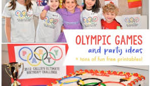 Olympic Games Decorations Olympics For Kids Fun Olympic Games And Party Printables