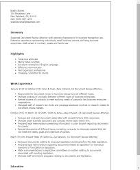 Example Of Objective On A Resume by Professional Document Review Attorney Templates To Showcase Your