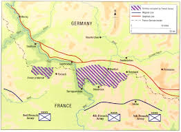 France Germany Map by Saar Offensive Wikipedia