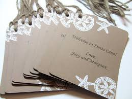 wedding gift tags 10 custom wedding gift bag favor tags embossed sand dollar