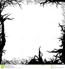 halloween images for background black and white square forest background frame illustration stock illustration