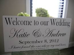 wedding plaques personalized wedding signs welcome to our wedding with names and date