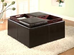 round leather coffee table round leather coffee table ottoman storage large tufted best 85