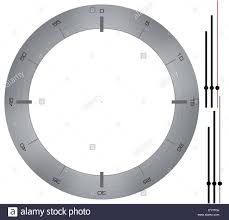 simple clock with white background and brushed metal dial hands
