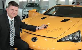 performance lexus dealer toyota ceo signs lfa nürburgring edition bought by lexus dealer in